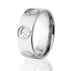 Hey, I found this really awesome Etsy listing at https://www.etsy.com/listing/210688744/volleyball-ring-titanium-ring-volleyball