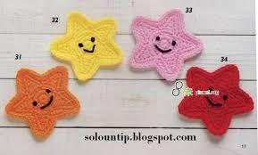 Resultado de imagen para estrellas tejidas al crochet paso a paso