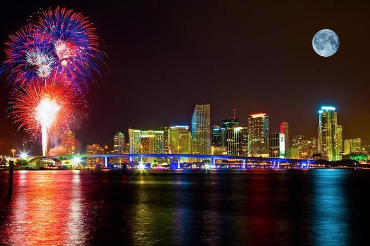 What Cities Have The Priciest Hotel Rates For New Year S Eve Magic City Skyline Miami Skyline