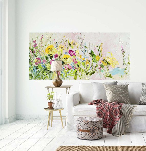 Modern Home Decor Bright Purple Wall Art Boho By: Best 25+ Bohemian Painting Ideas On Pinterest