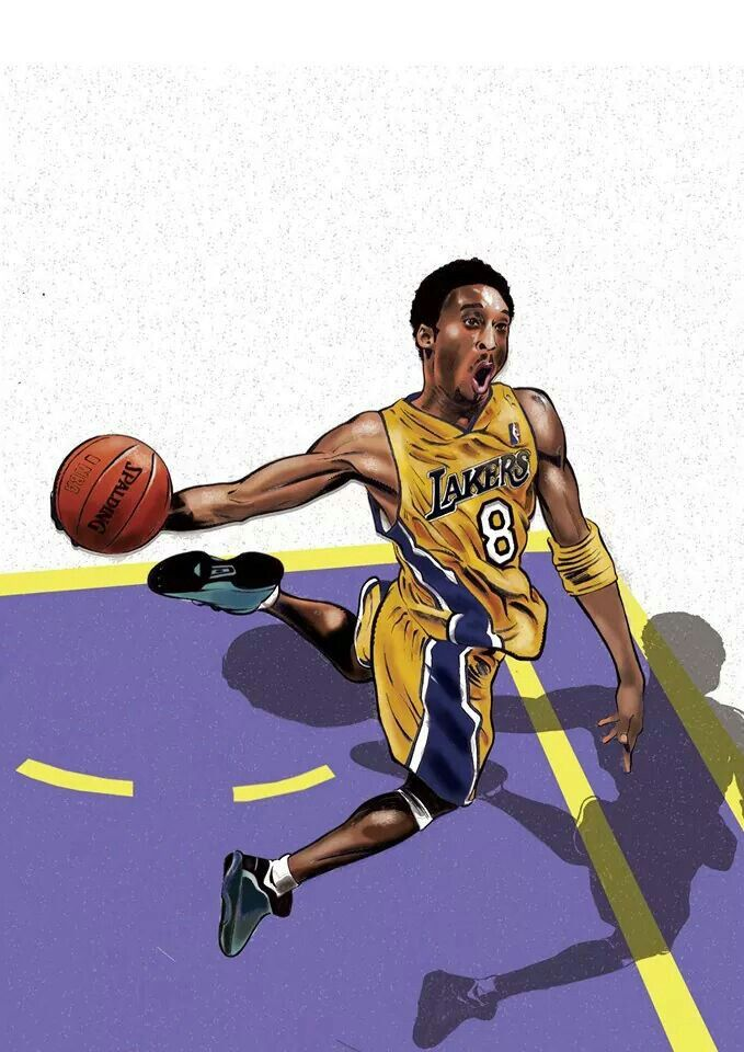 #Illustration by #Mg Creations #lakers #basket #design #handwork
