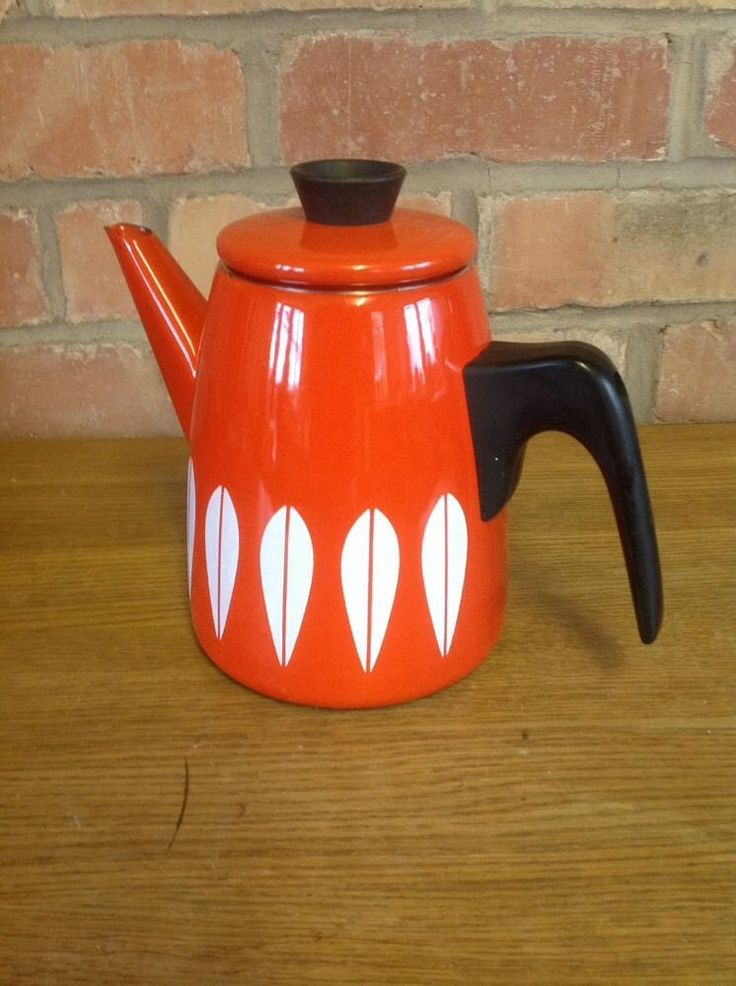 Gorgeous Norwegian Cathrineholm Enamel Coffee Pot - Vintage tweaks ebay store