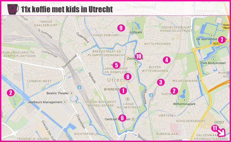 Kindvriendelijke koffietentjes en terrassen in Utrecht voor koffie met je kids | Childfriendly places for coffee with your kids in Utrecht