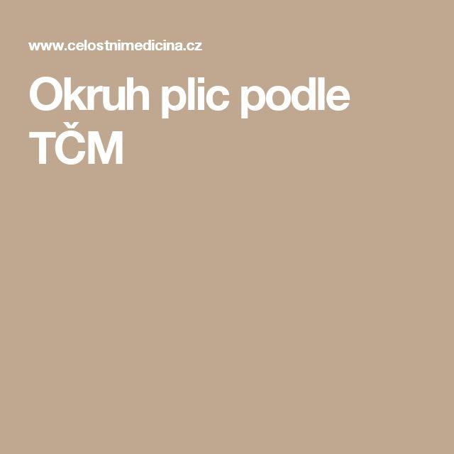 Okruh plic podle TČM