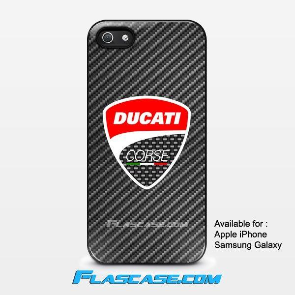 Ducati Corse Logo Carbon Apple iPhone 4/4s 5/5s 5c 6 6 Plus Samsung Galaxy S3 S4 S5 S6 S6 EDGE Hard Case