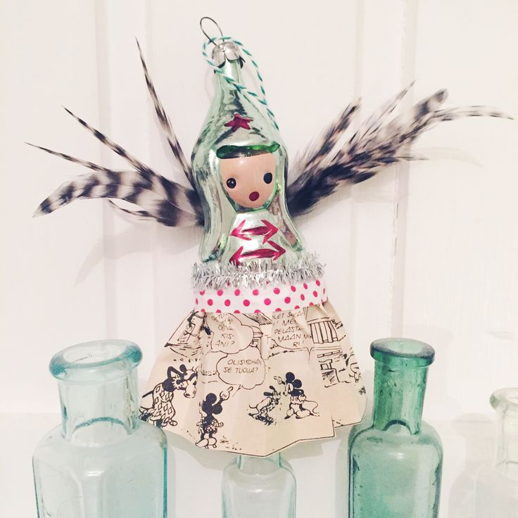 #christmas #angels #vintage #ornament #feathers 💕✨