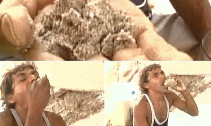 रेत खा कर स्वस्थ है ये शख्य
