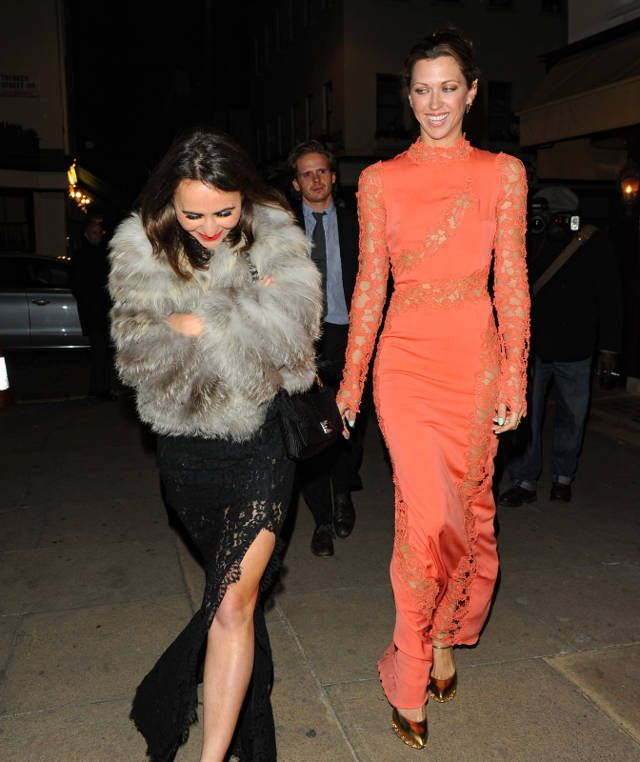 Margo Stilley can't stop cackling as her friend runs screaming from this dress