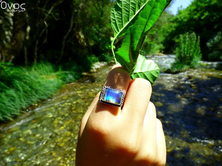 """ Silver Labradorite Square "" - Χειροποίητο δαχτυλίδι από ασήμι 925 και Λαβραδορίτη!"