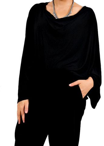 Chic, Versatile, and Soft. Made of 95% Bamboo Fabric, Convertible as: Nursing Cover - Maternity Tunic - Cardigan - Scarf - Shawl - Baby Blanket -Strol For more information visit here : http://www.chouandchou.com/