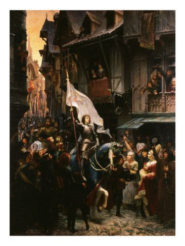 Entrance of Saint Joan of Arc, 1412-31, into Orleans, France Giclee Print by Jean-jacques Scherrer at AllPosters.com