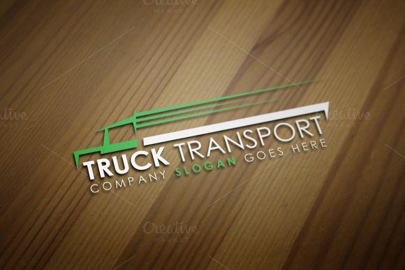 Truck Transport Logo Template by JigsawLab on @creativemarket