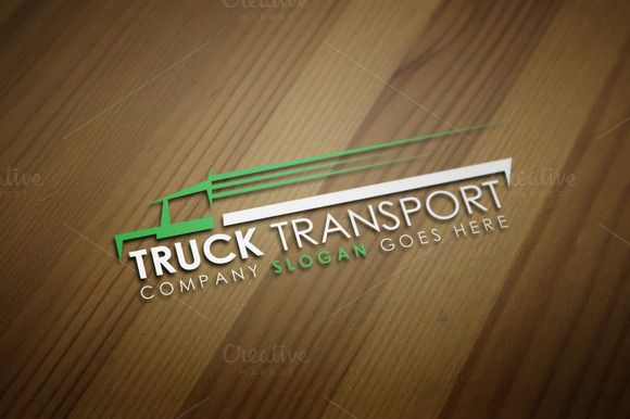 Truck Transport Logo Template by JigsawLab on Creative Market