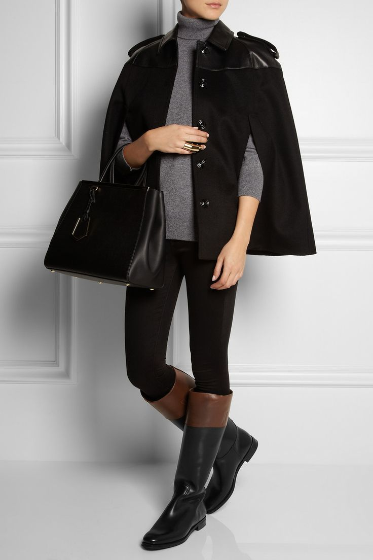 Church's | Martina two-tone leather riding boots | NET-A-PORTER.COM