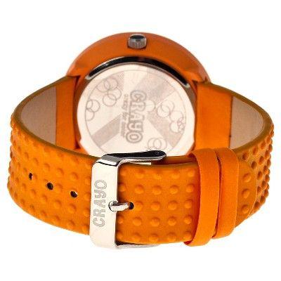 Women's Crayo Jazz Watch with Magnified Date Display- Orange