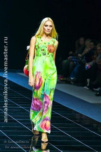 """Купить Платье """"Тюльпан"""" - авторское платье, нарядное платье, вечернее платье, валяное платье"""