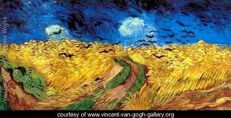 Wheat Field With Crows - Vincent Van Gogh - www.vincent-van-gogh-gallery.org