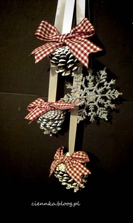 szyszki - ozdoby świąteczne DIY