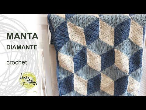 Tutorial Manta Diamond Crochet o Ganchillo - YouTube