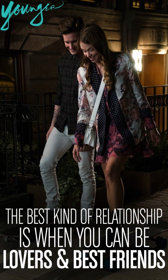 """""""The best kind of relationship is when you can be lovers & best friends."""" from TV Land's new scripted series Younger - Premieres March 31st 10/9c"""