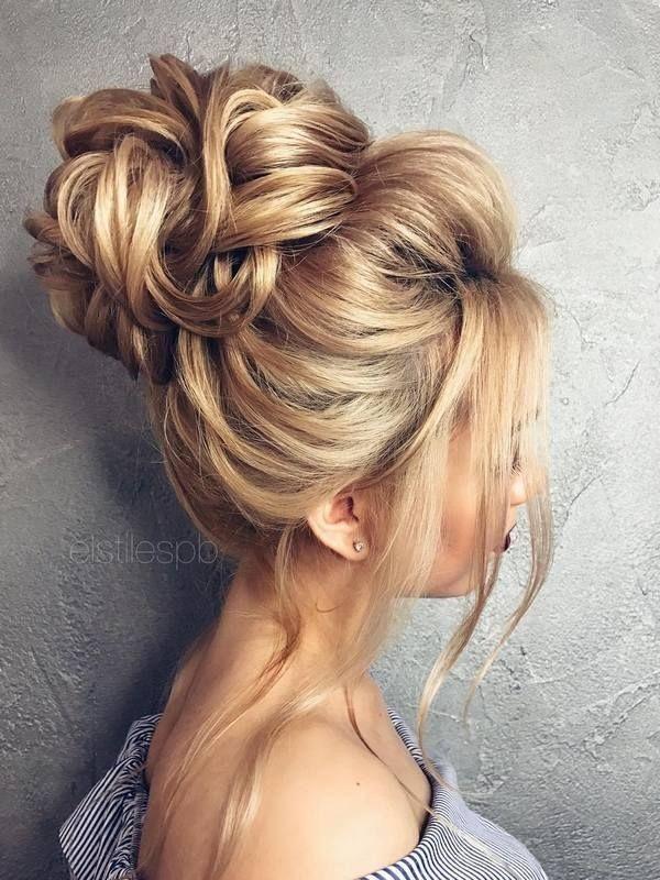 Luxury wedding hairstyles medium-length hair half high