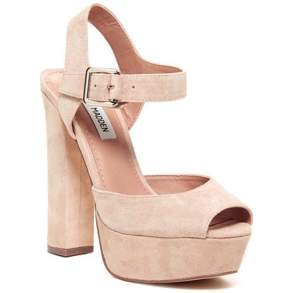 Steve Madden Jillyy Platform Sandal ($45) ❤ liked on Polyvore
