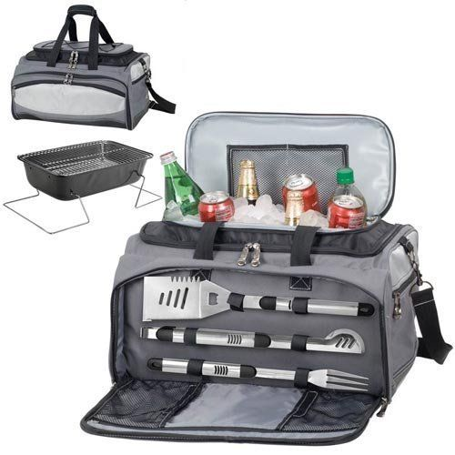 Buccaneer Ultimate Tailgating Cooler & Barbecue Set by Picnic Time. $149.95. Dimensions: 20 x 13.5 x 11. The Buccaneer is a original design and the ultimate tailgating cooler and barbecue set in one!  Don't be fooled by other similar looking items on the market.  Only Picnic Time's Buccaneer features a PVC cooler that conveniently nests inside the compartment that houses the portable BBQ.  The tote can carry the BBQ and a fully-loaded cooler at the same time!  This patente...