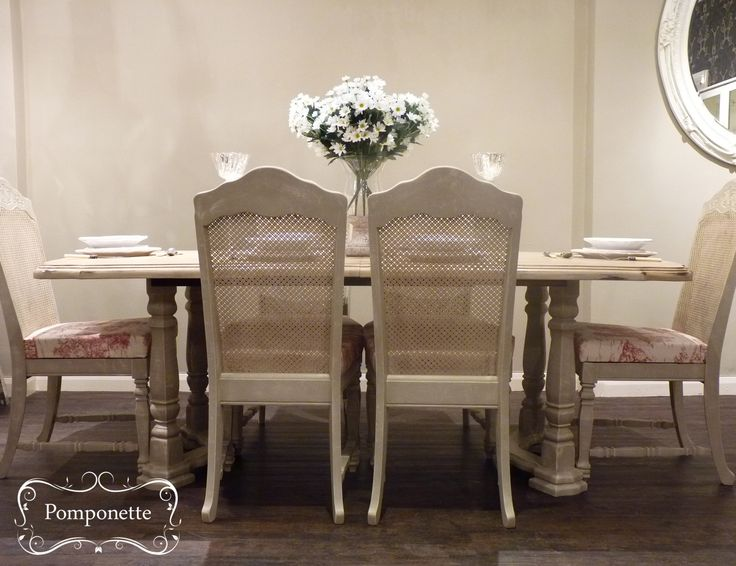 Extendable Dining Table   Chairs   anniesloanhome Country Grey  chalkpaint  with Cream detail 11 best Dining room chairs images on Pinterest   Cane back chairs  . Old Dining Chairs Leicester. Home Design Ideas