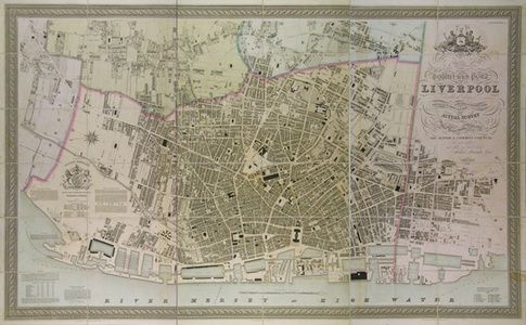The Trigonometrical Plan of the Town and Port of Liverpool including the Environs of Edge Hill & Toxteth Park Kirkdale Everton Low Hill from Actual Survey. | Sanders of Oxford