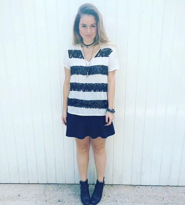 Black n' white / look do dia / ootd / stripes / ankle boot / Sherons/ Andressa Almeida