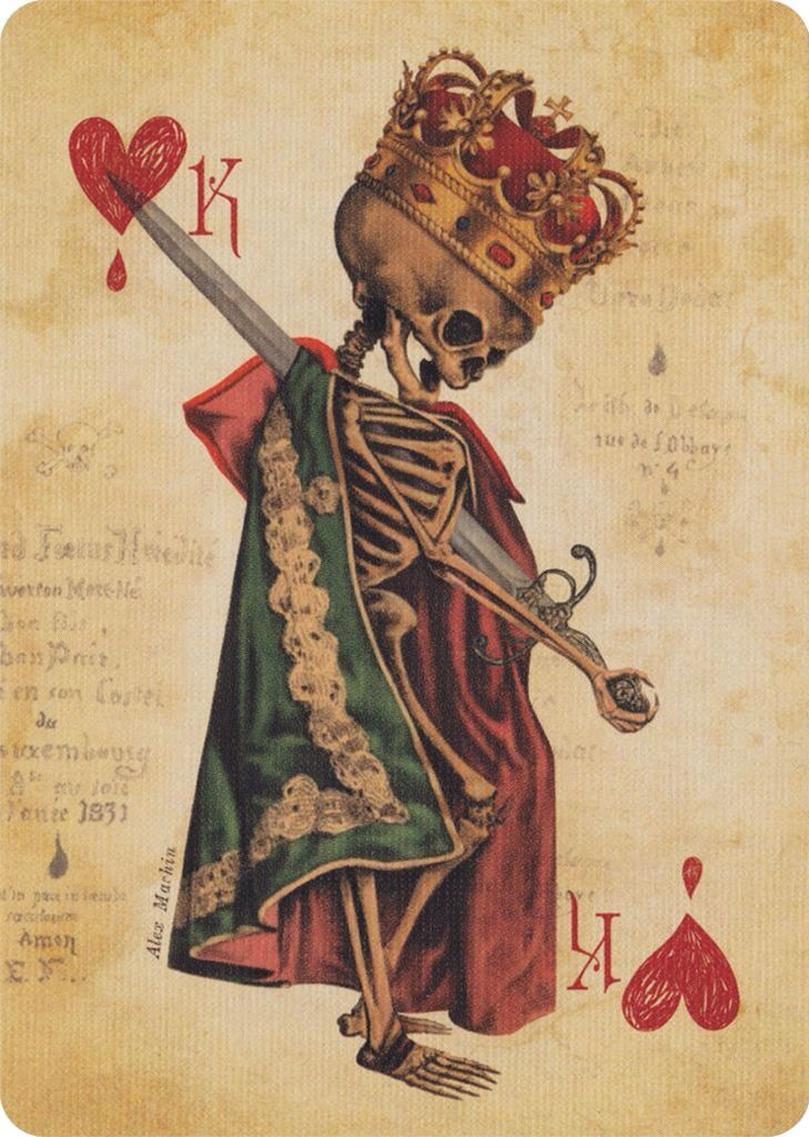 Skull art...King of Hearts ;)