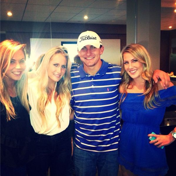 Johnny Manziel Posed For A Picture With Three Blondes At Cowboys Giants Game | Robert Littal Presents BlackSportsOnline