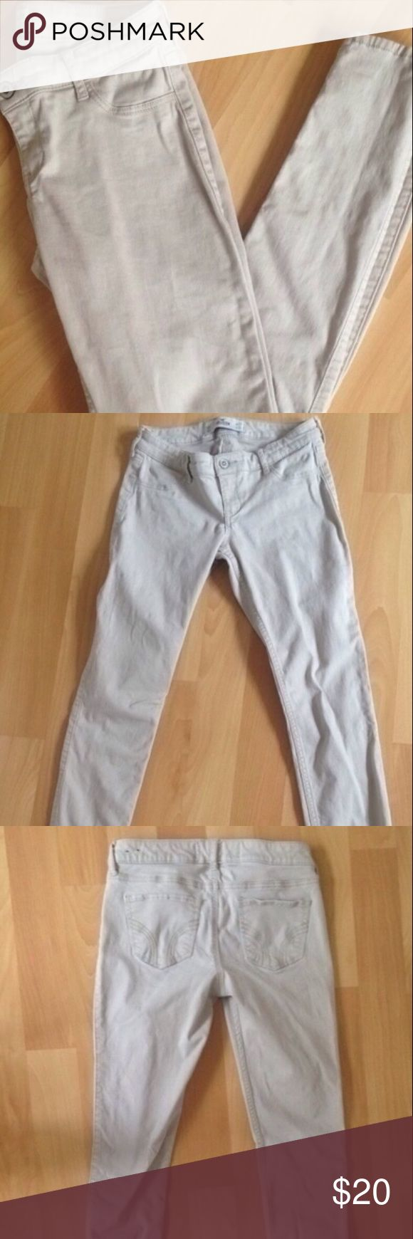 Hollister khaki leggings Light khaki color begging a from hollister so cute and flattering perfect for school uniform etc Hollister Jeans Skinny