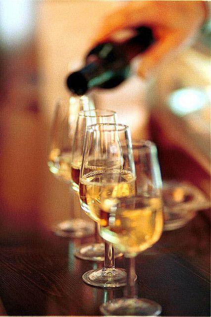 Glasses of Fino, pale Sherry wine