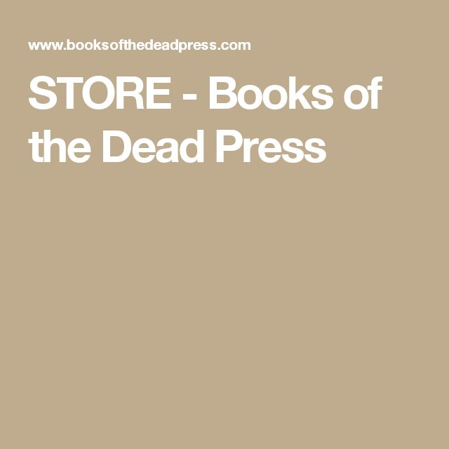 STORE - Books of the Dead Press