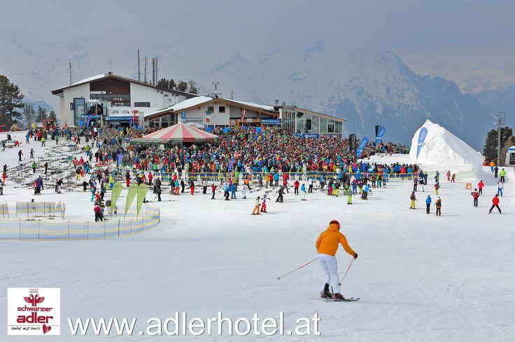 Das Festival auf der Bergstation der Bergkastelseilbahn - Schlager im Schnee in Nauders http://www.adlerhotel.at/