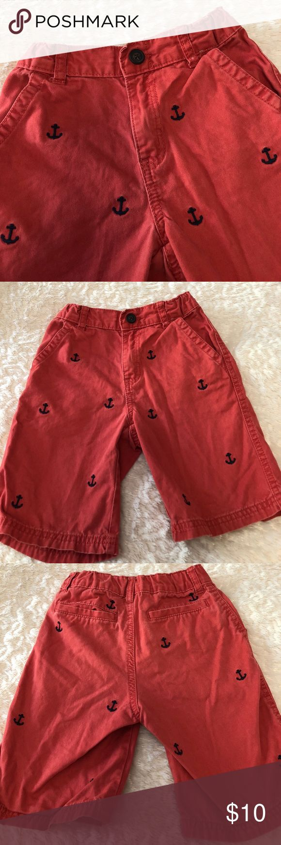 Gymboree Nautical Anchor Shorts 6 Preowned and clean. Has adjustable inside waistband Gymboree Bottoms Shorts