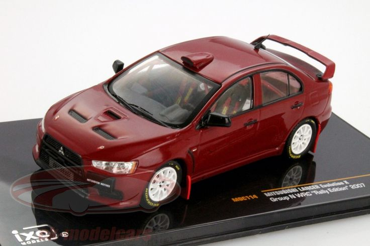 Mitsibushi Lancer Evolution X Gr.N WRC Rally Edition 2007, red. Ixo, 1/43. Price (2016): 15 EUR.