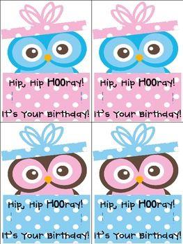 Owl Birthday Pencil Holder Freebie