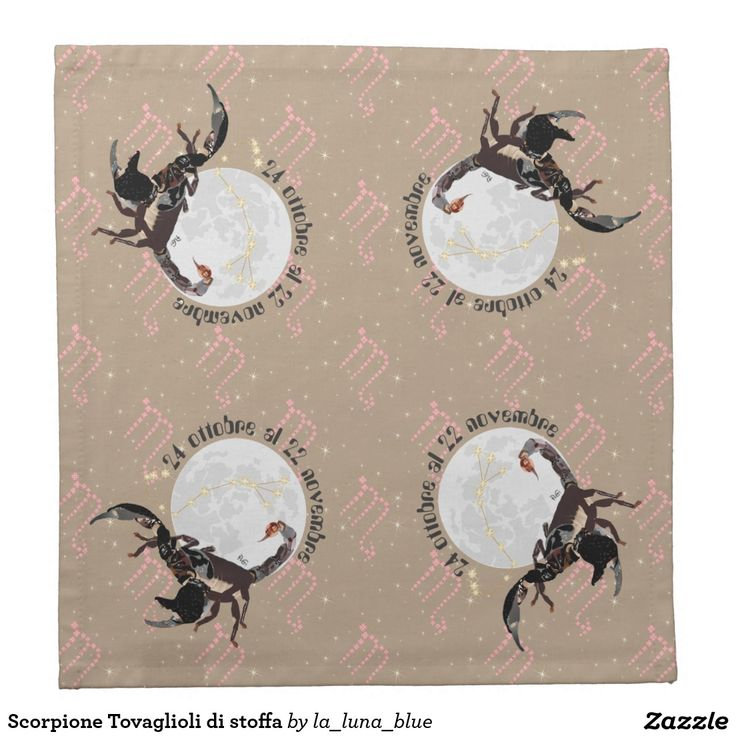 Scorpione Tovaglioli di stoffa Bedruckte Servietten