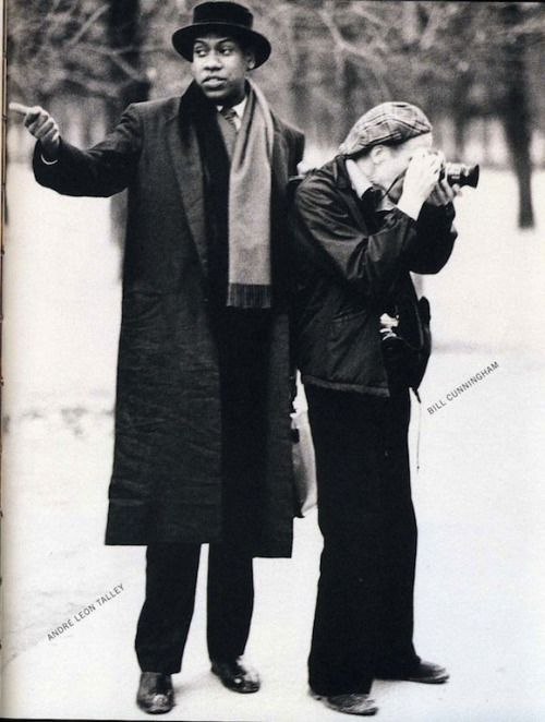 Andre Leon Talley and Bill Cunningham in 1984.