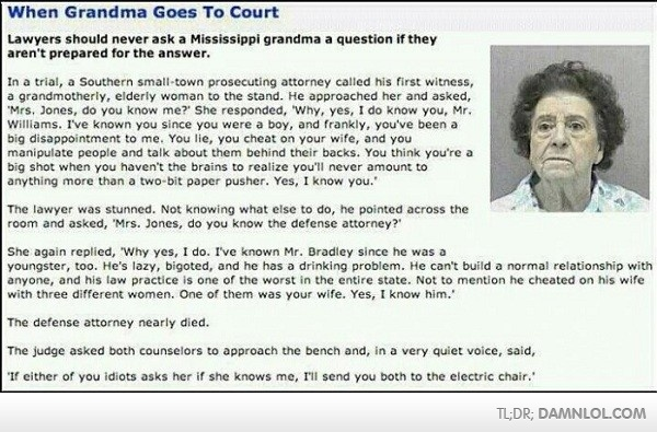 When Grandma Goes To Court