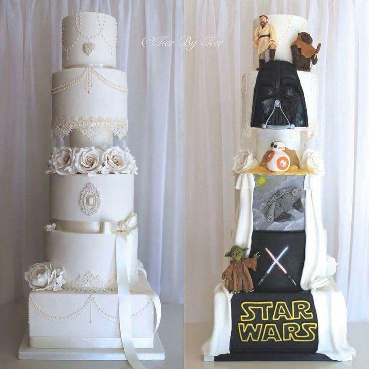 17 Best Ideas About Star Wars Wedding Cake On Pinterest