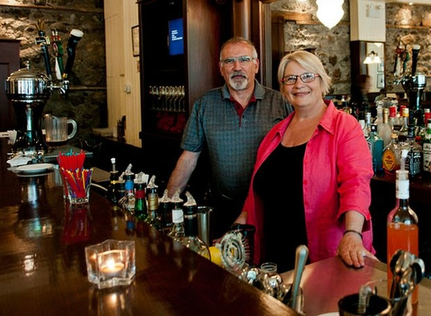 How about restaurant/heritage building, restaurant/art gallery, restaurant/culinary school and restaurant/ambassador-for-possibilities-in smalltown-Saskatchewan? John Turner and Tina Cresswell host behind the wood and glass bar. Fine wine and Saskatchewan beer are a perfect fit in Maple Creek, SK.  Featured in the Winter 2011 edition of Prairies North Magazine.