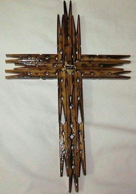 Texas Clothespin Cross