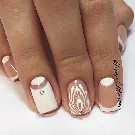 Uñas de decoración blanca
