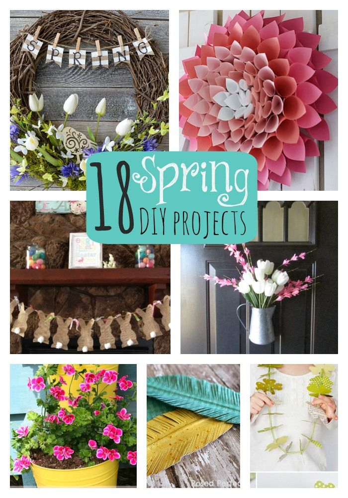 Great Ideas- 18 DIY Spring Projects! -- Tatertots and Jello #DIY #Spring
