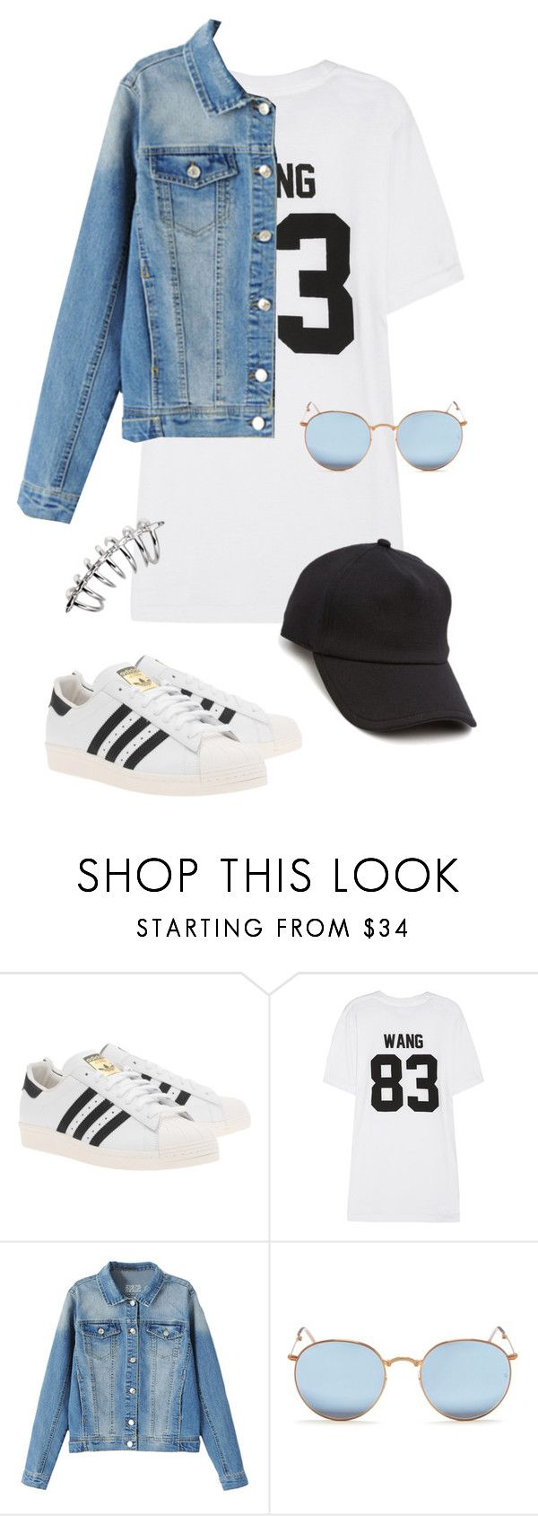 """Untitled #283"" by n23da ❤ liked on Polyvore featuring adidas Originals, LPD NEW YORK, Ray-Ban and rag & bone"