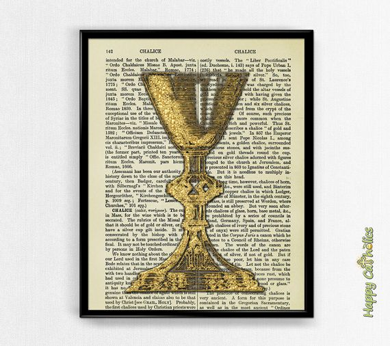 On SALE - Catholic Dictionary Print: Chalice