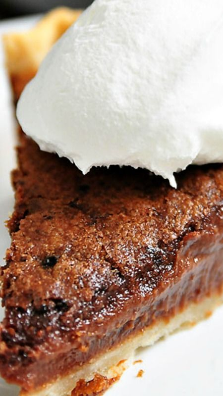 Chocolate Chess Pie ~ seriously one of the best things ever created. My Realtor, Amy, makes one for all her clients when they buy or sell a property!!!!!